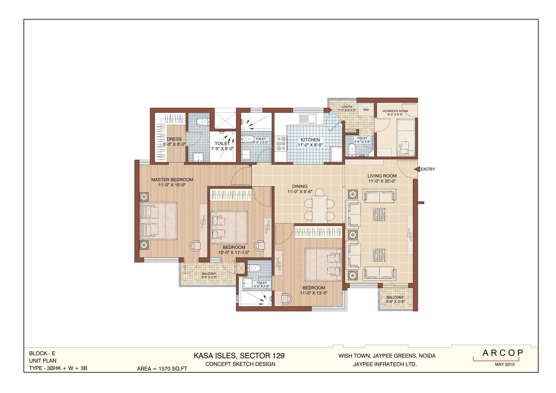 Kasa Isles Type E Unit Plan