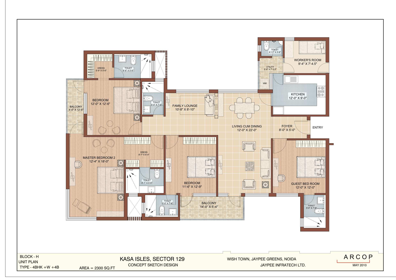 Kasa Isles Type H with 2500 Unit Plan 2